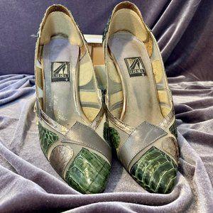 J.Renee Forest Green & Silver Heels